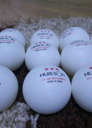 Мячі для настільного тенісу HUIESON 40+ мм 3 * abs new material