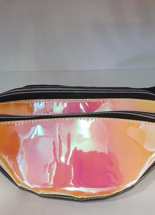 Неоновая,голографическая,сумочка бананка/belt bag/ сумка на по...