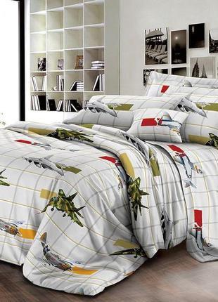 Комплект постельного белья с самолётами