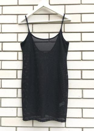 Пляжное черное платье сетка туника майка river island