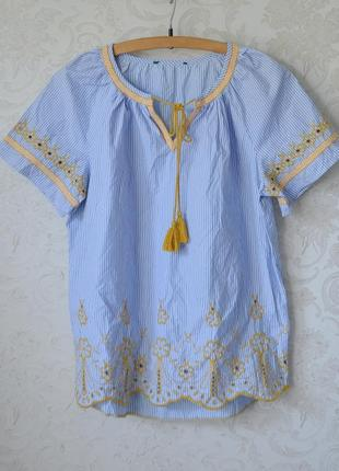 Полосатая блуза с вышивкой george