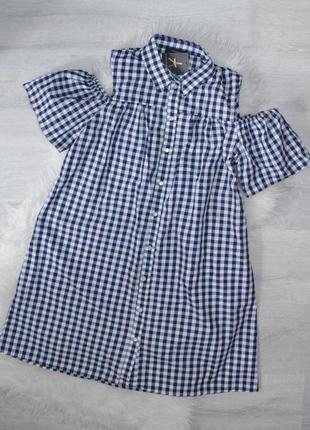 Платье в клетку atm p 10 , 12