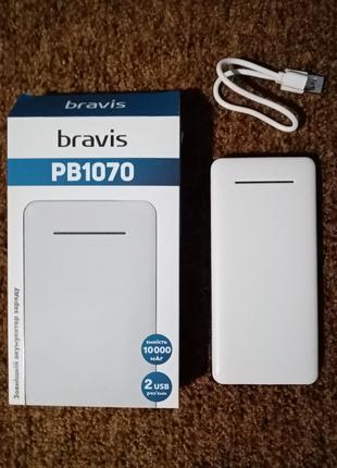 Новый Powerbank BRAVIS PB1070 10000 mAh внешний аккумулятор павер