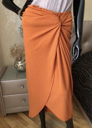 Крутая юбка на запах, с узлом, размер л