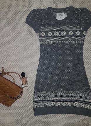 Теплое и уютное платье-туника