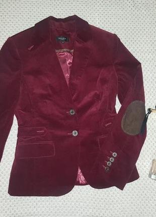 Пиджак с микровельвета с налокотниками