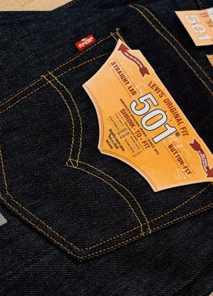 Джинсы Levis 501 Original Shrink-to-Fit Rigid Indigo(из USA)