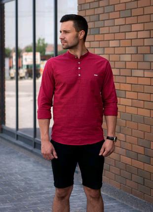 Рубашка Саммари бордо