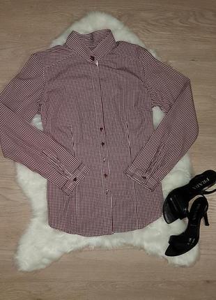 Красивая классическая рубашка в клетку van laack