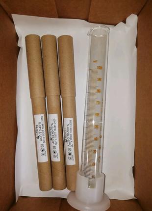 Набор ареометров-спиртометров АСП-3+мерный цилиндр 100мл