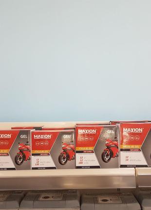 Мото акумулятори Maxion, широкий асортимент