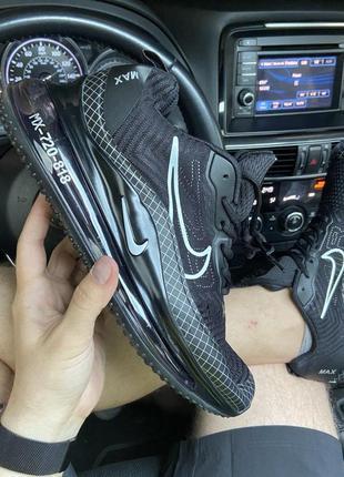 👟 кроссовки  nike air max mx-720 818 black.  /  наложенный пла...