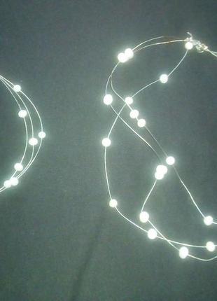 Браслет и ожерелье из натурального жемчуга