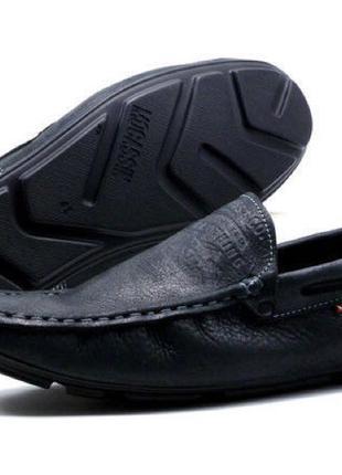 Мужские мокасины в стиле Levi's черная Кожа весна осень обувь Тур