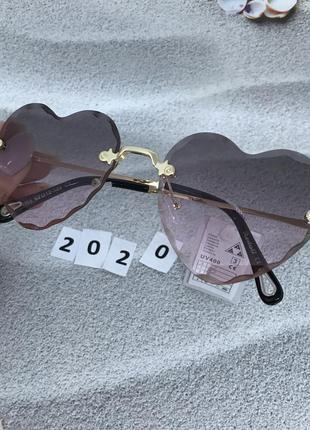 Распродажа! модные солнцезащитные очки снрдечки, цвет розово-к...