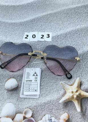 Распродажа! модные солнцезащитные очки сердечки, розово-голубы...