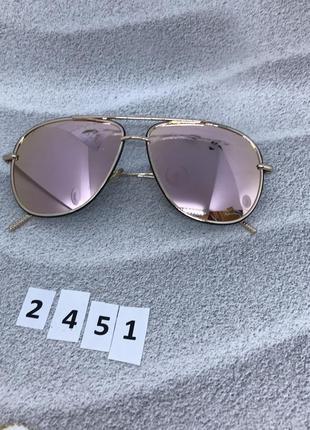 Очень красивые пудровые солнцезащитные очки  к. 2451