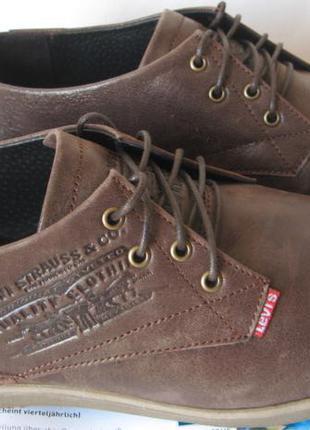 Levis туфли мужские коричневого цвета в стиле Левис кожа весна ле