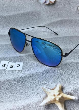 """Синие солнцезащитные очки """"капелька"""" в стильной оправе  к. 2452"""