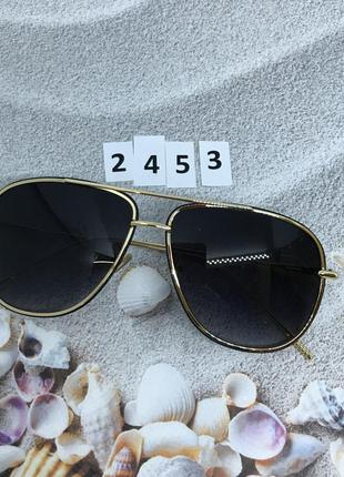 """Черные солнцезащитные очки """"капелька"""" в стильной оправе  к. 2453"""