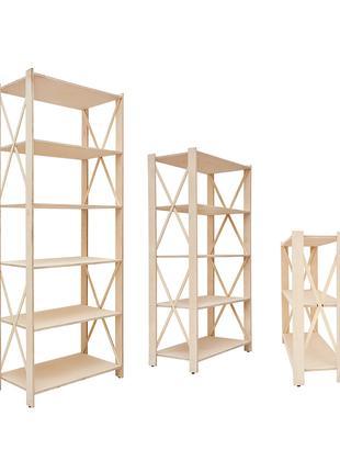 Торговый стеллаж, стеллаж в магазин, деревянный стеллаж, полки