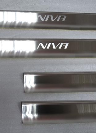 Накладки на пороги Chevrolet Niva 2007-