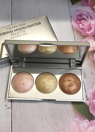 Палетка для стробинга golden rose strobing highlighter palette