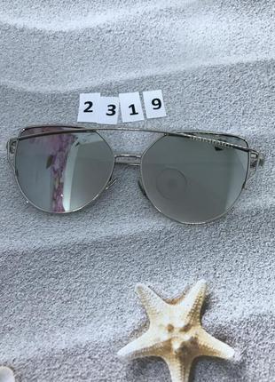Солнцезащитные очки, цвет серый в серебристой оправе к. 2319