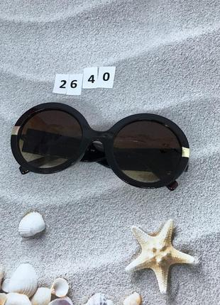 Круглые солнцезащитные очки коричневые к. 2640