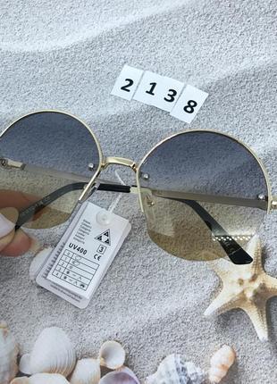 Солнцезащитные очки- линза с переходом двух цветов к. 2138