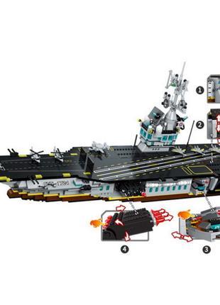 Конструктор 1724 Большой Авианосец типа Нимитц 1007 деталей