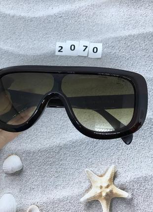 Солнцезащитные очки маска с коричневыми линзами к. 2070