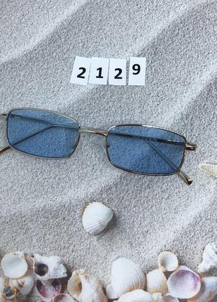 Модные солнцезащитные очки с голубыми линзами  к.2129