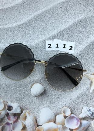 Круглые черные солнцезащитные очки  к. 2112