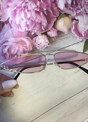 Модные очки с розовыми линзами к. 2595
