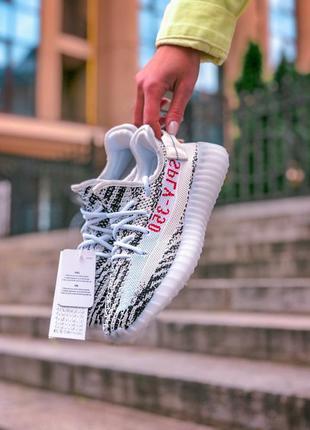 Adidas yeezy boost 350 v2 zebra мужские кроссовки наложенный п...