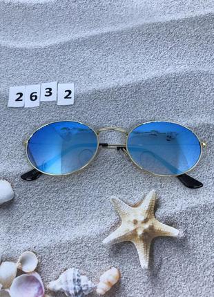 Трендовые овальные солнцезащитные очки к. 2632