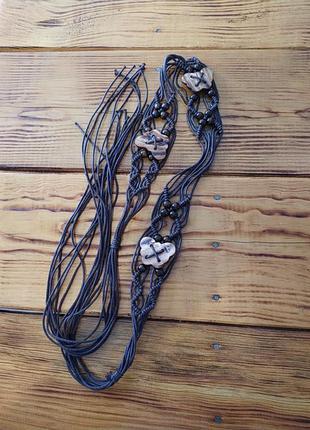 Женский пояс веревки