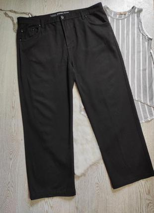 Черные джинсы брюки штаны стрейч  прямые высокая талия посадка...