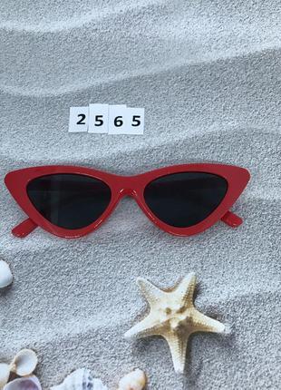 Модные красные ретро-очки  к. 2565