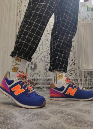 Разноцветные кроссовки New Balance. Оригинал!