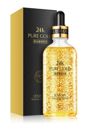 Сыворотка venzen 24k pure gold, с нано-золотом и гиалуроновой ...