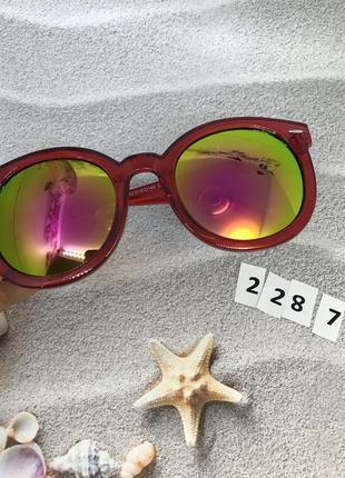 Солнцезащитные очки, цвет линз розовый в краной оправе к. 2287