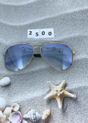 Модные серые очки в форме капли к. 2500