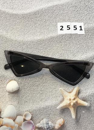 Модные серые ретро очки солнцезащитные  к. 2551