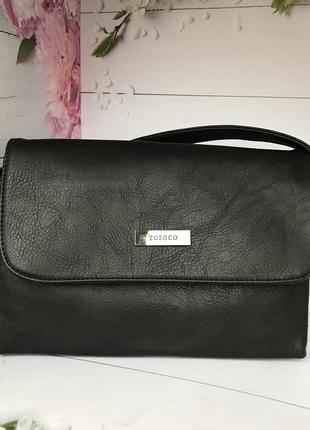 Стильная черная женская сумка - клатч к. 6328