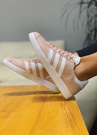 Кроссовки adidas gazelle кеды адидас газель персиковые
