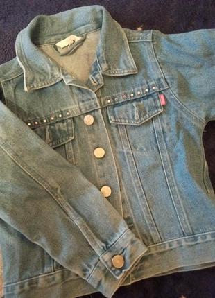 Джинсовая куртка девочке, 110-116