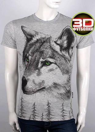 Футболка мужская волк, 3 d