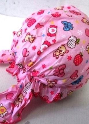 Детская летняя бандана для девочки, ягодки и конфетки